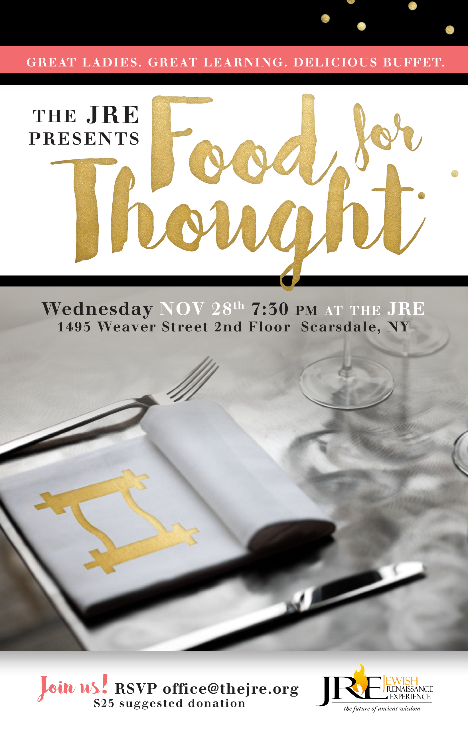 JRE Food For Thought Flyer 11 2018 2
